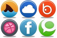 Pretty Social Media 2 Icons - Artwork by Custom Icon Design Social Network Icons, Crafts With Pictures, Custom Icons, Icon Set, Icon Design, Social Media, Pretty, Artwork, Free