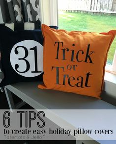Change up your home decor with easy no-sew pillow covers! I am sharing 6 easy tips that will help you create pillow covers for your home!