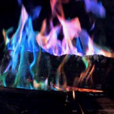 Tired of all those strands of burned out Christmas lights? Don't throw them out!! Next time you're gathered around the campfire, toss a strand of old lights into the flames and watch the colors! Or try adding simple household chemicals like borax, or potassium chloride to the flames!