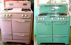 One day I'll buy a mint green O'Keefe and Merritt stove.  And build an entire kitchen around it. One day.