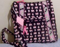 Vera Bradley Pink Elephants Hipster New Crossbody Shoulder Bag Find it on Bonanza from #osaunt