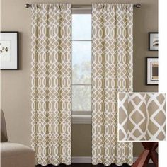 Better Homes and Gardens Ironwork Curtain Panel, Beige