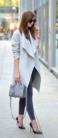 #fall #fashion / gray + gray