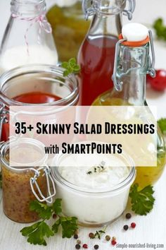 Light Healthy Salad Dressing Recipes with SmartPoints via @marthamckinnon