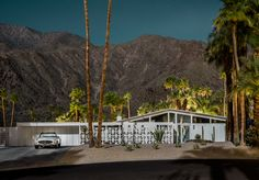 Photographer Tom Blachford captures mid-century houses in Palm Springs bathed in moonlight.