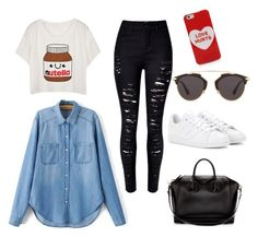 """Street look @pralados20"" by giovanna-giovanna-1 on Polyvore featuring moda, adidas, Givenchy, Christian Dior e Marc Jacobs"