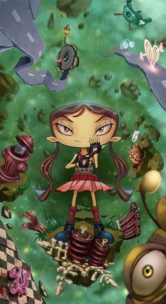 draw-till-death-tmb:  She's Lili from one of my favorite platform games ever. Psychonauts. ———- ©Artwork / Draw-till-death ©Psychonauts /Lili / Double Fine Productions  Deviantart   Pixiv