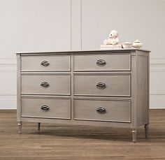Emelia Wide Dresser   Dressers   Restoration Hardware Baby & Child with changing table topper