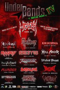 O KRUCIPHA é uma das atrações do proeminente festival UnderBands Metal Fest que está em sua quarta edição. A atração principal é a veterana banda de Death Metal norte-americana radicada na Europa, Master. O evento acontece na cidade de Caçador, interior de Santa Catarina, nos dias 5 e 6 de dezembro e conta com um lineup de muito peso com bandas como Rhestus, Machinage, Red Razor, Juggernaut...