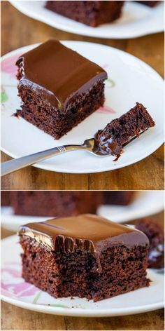 The Best Chocolate Cake With Chocolate Ganache – The best chocolate cake I've ever had, and the easiest to make! Nothing fussy or complicated