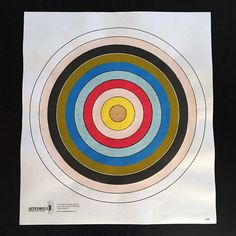 Golden - Hand Painted Paper Shooting Target Art