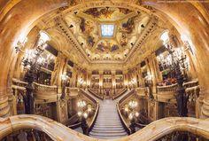 Grand Opera, Paris, by Daniel Kordan. 21 photos in 3 rows. Total: 33000*22000 pixels. Manfrotto sph panoramic head, nikon d800, nikkor 24-70.