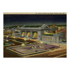 MISSOURI VINTAGE  | Union Station, Kansas City, Missouri Vintage Posters