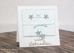 Stampin Up - Weihnachtskarte - Christmas Card - Karte - Card - Stempelset Winterwerke - Besonderes Designerpapier Stille Nacht - Stanzer Itty Bitty Akzente - Stempelset Wünsche zum Fest ☆ Stempelmami