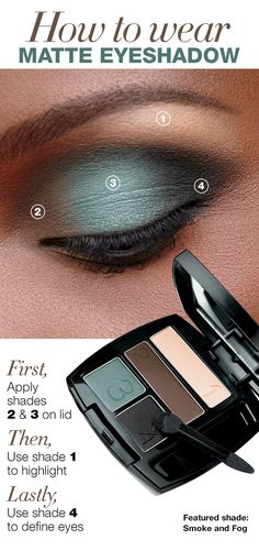 Learn the right way to wear matte eyeshadow with the True Color Matte Eyeshadow Quad! #AvonCanada