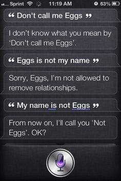 Siri can be very stubborn sometimes.