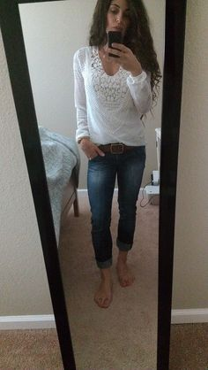 ME! In the Stitch Fix Brixon Ivy Alessandria crochet bib top, seriously love it!