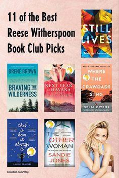 11 top Reese Witherspoon book club picks to read with your group.  #books #bookclub #reesewitherspoon
