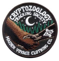 Cryptozoology Tracking Society: FRIENDS of CRYPTID WILDLIFE Patch (Glow in the Dark) by MaidenVoyageClothing on Etsy https://www.etsy.com/listing/202132629/cryptozoology-tracking-society-friends