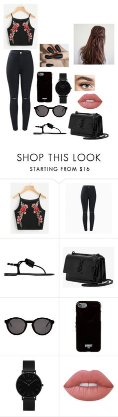 """Untitled #132"" by leonora-qenaj on Polyvore featuring Giuseppe Zanotti, Yves Saint Laurent, Thierry Lasry, Givenchy, CLUSE and Lime Crime"