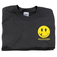 Black Tandem Volleylicious Smile Volleyball T-Shirt ay Volleyball.Com