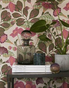 """Wallpaper """"Wonderland""""/Vildtuta   borastapeter.se / design: Hanna Werning   via trendspanarna"""