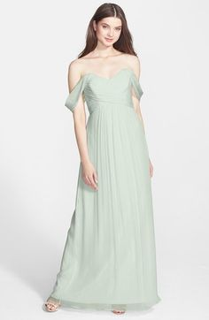 It's a love story baby just saaaay yes.... - Amsale Crinkled Silk Chiffon Gown available at #Nordstrom