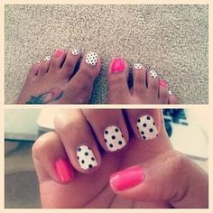 Love the polka dots- could do so many different colors...