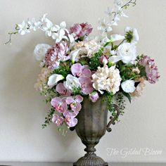 The Gilded Bloom: Spring Floral Arrangement: Designing with Silk Flowers