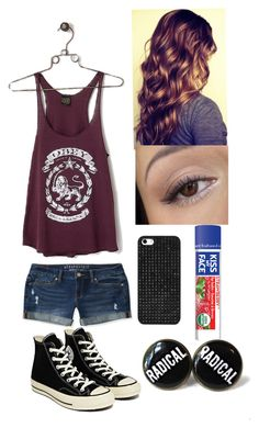 """""""Untitled #96"""" by nicolette-music ❤ liked on Polyvore featuring Aéropostale, OBEY Clothing, Converse, BaubleBar and Kiss My Face"""