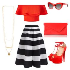 """""""Spanish Influence"""" by darklady2705 on Polyvore featuring Miss Selfridge, Christian Louboutin and Kate Spade"""
