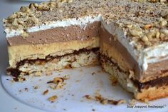 Recepti i Ideje: Monte torta – Čisto oduševljenje! Delicious Desserts, Dessert Recipes, Yummy Food, Kolaci I Torte, Croatian Recipes, Russian Recipes, Jaba, Graham Crackers, Macaroons