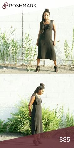 Black Dress with side Slit Not part of $10 deal Overall Black Dress with side Slit Boulevard Dresses Midi