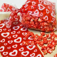 Candy rainbow Popcorn made with jello! Red strawberry popcorn blue berry popcorn yellow popcorn