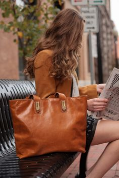 Sseko Tote Collection: Perfect for workday & weekend!    Handmade in East Africa, profits from this leather tote will go directly to the Sseko Scholarship Fund, which supports university bound Sseko women in Uganda.