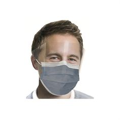 Carbon Filter Earloop Mask with Shield by Comfort Safety Products