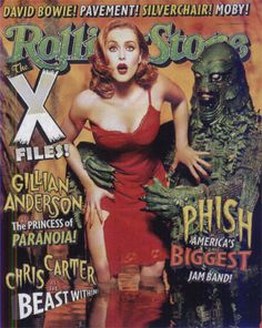 Gillian Anderson, The X-Files, Rolling Stone Magazine 20 February 1997 Cover Photo - United States Rolling Stone Magazine Cover, Gillian Anderson, Aerosmith, Bowie, Big Jam, The X Files, Science Fiction, Les Aliens, Cool Magazine