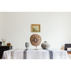 White Linen Tablecloth Featuring Stripes In Seven Shades Of Grey. Fresh,  Luxurious, Minimalist Modern Table Linens Available In Standard And Custom  Sizes.