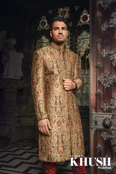 Intricate Mens shewani by Cuckoo Fashion GROOM STORE 210 Green Street, Forest Gate London, E7 8LE Tel: +44(0)20 8552 5922 NEW GROOM STORE 42 The Broadway Southall, UB1 1TA Tel: +44(0)20 8843 4809 enquiries@cuckoofashion.com www.cuckoofashion.com Location: Carlton Towers