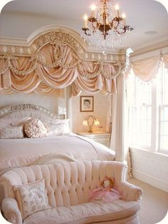 A real little girl princess room. Would have to find a way to keep her humble though :/