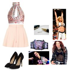 Divas Championship Contract with Trish by my side and Lita by AJ's side. by mjisaliveinour2 on Polyvore featuring Zimmermann, Topshop and WWE