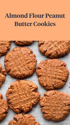 Flourless Oatmeal Cookies, Flourless Peanut Butter Cookies, Almond Butter Cookies, Paleo Cookies, Gluten Free Cookies, Sugar Free Peanut Butter Cookies, Almond Butter Snacks, Almond Flour Recipes, Paleo Dessert