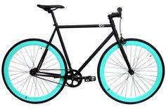6ku Fixie Single- Speed Bike Nebula Black/Celeste Item # 10TR-KU1007