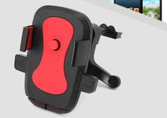 [$1.71] Car Phone Holder With Outlet Bracket Navigator (Colour: Red)