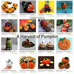 A quick and easy DIY project, featuring how to make your own polymer clay pumpkins! This polymer clay pumpkin tutorial can be used for fondant as well. Polymer Resin, Fimo Clay, Polymer Clay Projects, Handmade Polymer Clay, Halloween Clay, Messy Art, How To Make Clay, Play Clay, Clay Baby