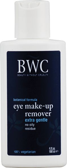 Beauty Without Cruelty Eye Make-Up Remover Extra Gentle. Actually works really well even on stubborn mascara! No oily residue!