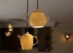 Pendant Lighting Porcelain Teapot Teapotdesign Porcelainlamp Pendantlighting Etsy Cafedecor