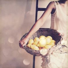 lemons and a basket