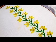 Hand Embroidery : easy & beautiful border design for beginners.- Hand Embroidery : easy & beautiful border design for beginners. Hand Embroidery : easy & beautiful border design for… - Embroidery Hoop Crafts, Learn Embroidery, Hand Embroidery Stitches, Crewel Embroidery, Hand Embroidery Designs, Embroidery Kits, Embroidery Tattoo, Ribbon Embroidery, Hand Stitching