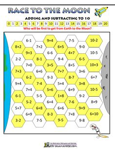 math addition games race to the moon add subtract to 10